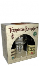 Confezione Trappistes Rochefort 4 Bottiglie 0,33 + 1 Bicchiere Brasserie Rochefort