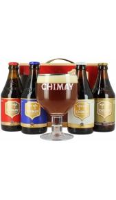 Confezione Chimay 4 Bottiglie 0,33 l + 1 bicchiere Chimay