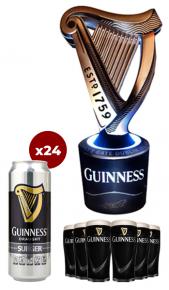 Impianto Guinness Surger Unit + 24 lattine + 6 bicchieri Guinness
