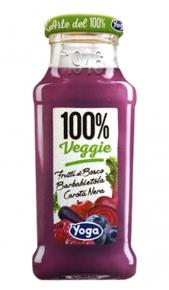 Succhi Yoga Veggie 100% Barbabietola Frutti di Bosco Carota Nera 200 ml x 12 Conserve italia