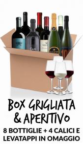 6 rossi e 2 bollicine + levatappi e 4 calici omaggio Vini Bresciani