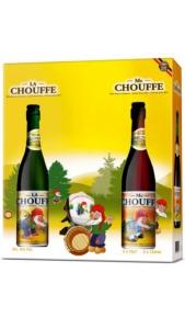 Confezione Regalo Birra 1 bt La Chouffe 0,75 + 1 bt Mc Chouffe + 1 Bicchiere Brasserie d'Achouffe