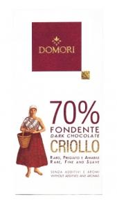 Criollo Domori Fondente 70% gr. 50 Domori