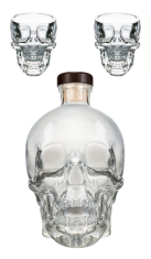 Vodka Crystal Head 0,70 lt + 2 Bicchieri Crystal Head