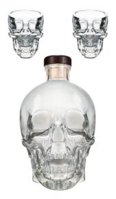 Vodka Crystal Head 0,70 lt + 2 Bicchieri Crystal Head