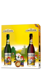 La Chouffe + Mc Chouffe 2 x 0,75 lt + 1 Bicchiere