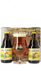 Confezione La Chouffe 2 bottigliette 0.33 lt  + Bicchiere Brasserie d'Achouffe