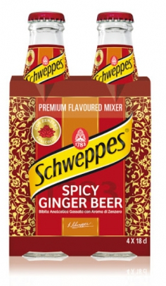 Ginger Beer Spicy Schweppes 1/5 VP X 4 San Benedetto