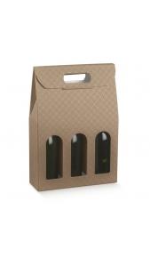 Scatola da 3 bottiglie con maniglia Drink Shop