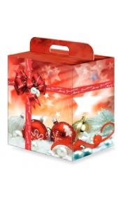 Scatola natalizia media con maniglia Drink Shop