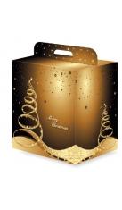 Scatola natalizia grande con maniglia Drink Shop