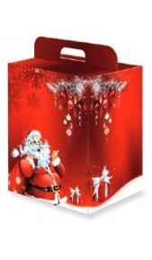 Scatola natalizia piccola con maniglia Drink Shop